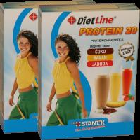 DietLine PROTEIN 20 proteinový kokteil MIX - 2 balení